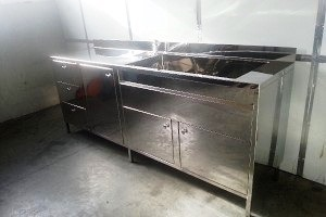 Cabinet with a built-in sink 2400n600n950mm