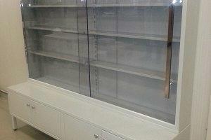 Metal cabinet - display case 2000x500x1950